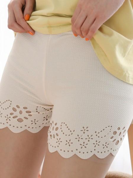 Hot Sale Women's Poliestere Fiber Hollow Out Safety Pantaloni/Safety Cortos