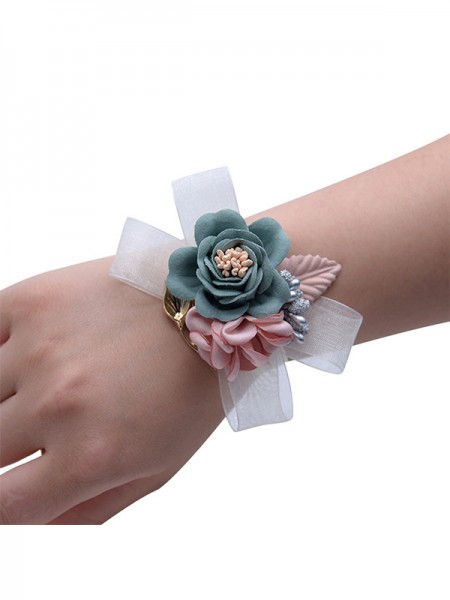 Low-key Hand-tied Cloth Wrist Corsage