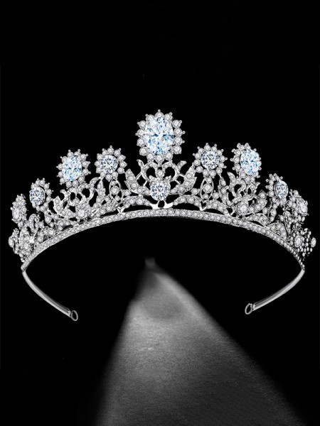 Luxurious Con Strass Bridal copricapo