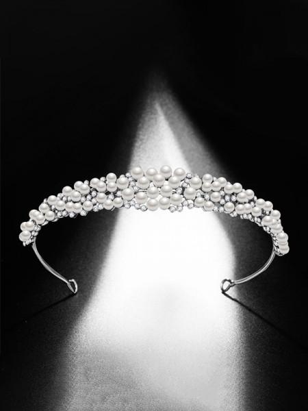 Exquisite Lega Bridal Con Perla copricapo