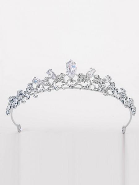 Elegante Lega Bridal Con Strass copricapo