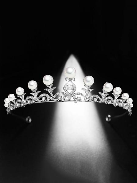 Pretty Bridal Con Perla Lega copricapo