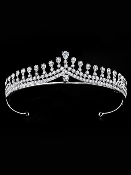 Bridal Charming Lega Con Strass copricapo