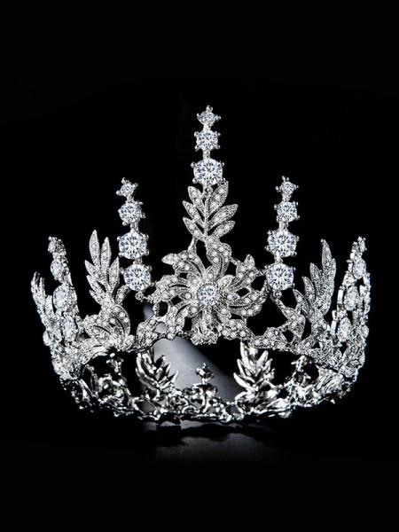 Bridal Glamorous Lega Con Strass copricapo