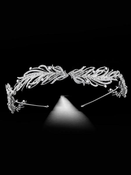 Bridal Elegante Lega Con Strass copricapo