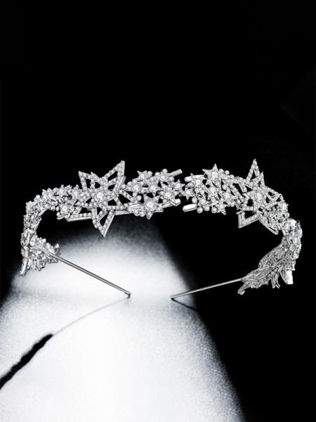 Fashion Lega Bridal Con Strass copricapo