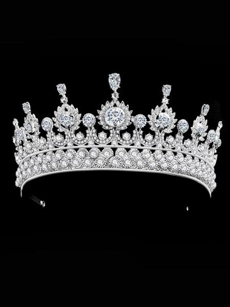Bridal Luxurious Lega Con Strass copricapo