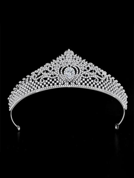 Beautiful Con Strass Lega Bridal copricapo