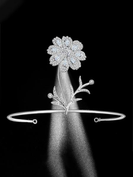 Elegante Bridal Con Strass Lega copricapo