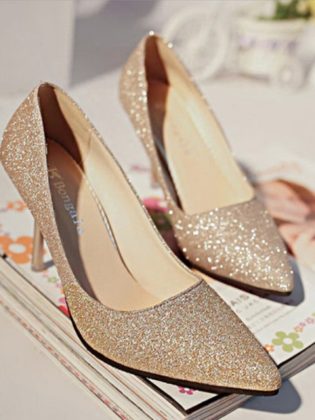 Women's Sparkling Glitter Closed Toe Tacchi alti Stiletto Heel