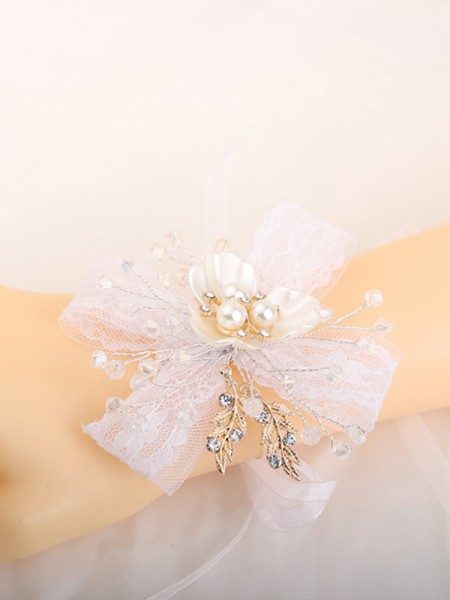 Pure Hand-tied Crystal Wrist Corsage