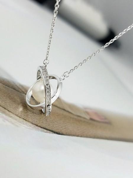 Ladies's Elegante S925 Silver Collane