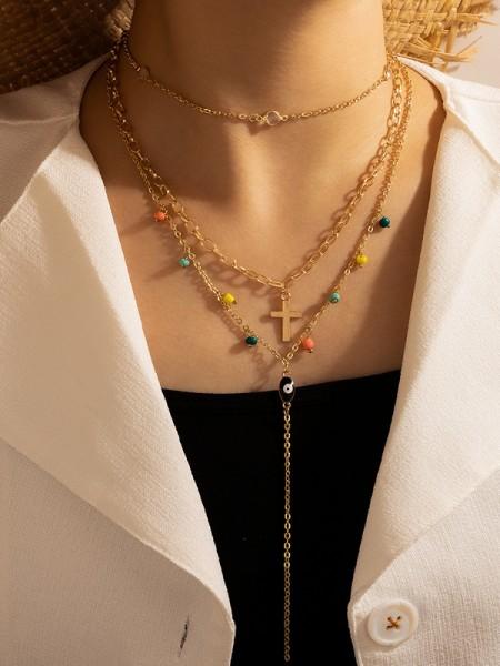 Beautiful Lega Con Beads Collane For Le signore