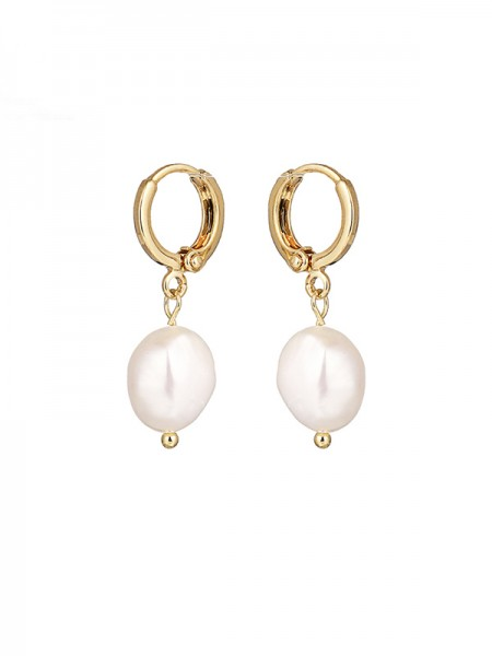 Elegante Pearl With Copper Ladies's Orecchini