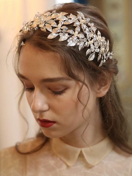 Glamorous Lega Con Cristalli/Imitation Perla copricapo