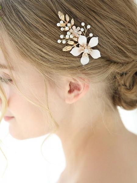 Glamorous Lega Con Imitation Perla/Fiore copricapo