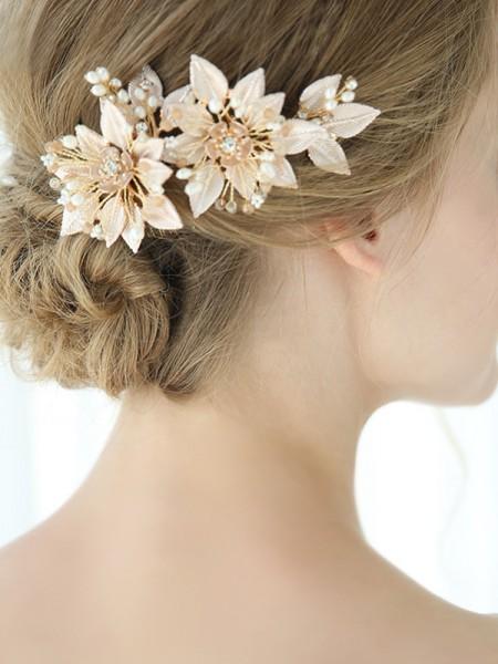 Elegante Lega Con Fiore copricapo