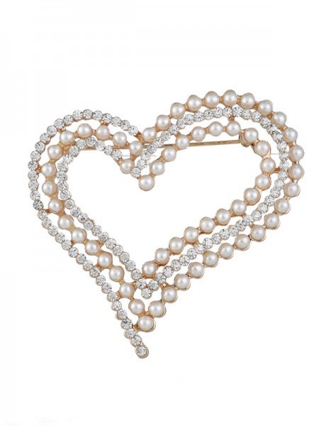 Eternal Love Lega With Strass/Imitation Pearl Le signore' Spilla